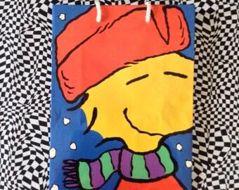 Woodstock~Gift Bag~Peanuts~Christmas Gift~Vintage