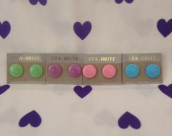 Round Round Baby~Choose Your Color~NOS~Round Neon Earrings Green~Purple~Pink~Blue