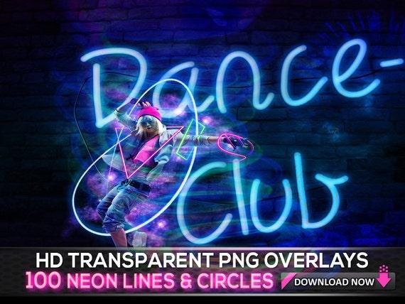 100 Png Trasparente Neon Linee E Cerchi Di Luce Raggi Etsy