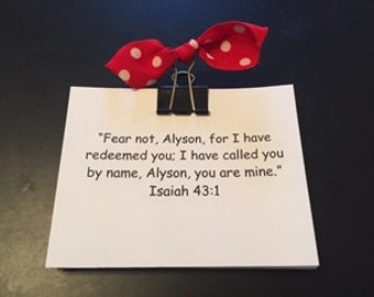 Personalized Scripture NOTE Cards