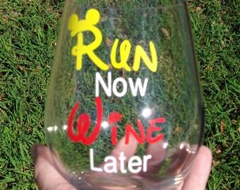 Run now Wine later Acrylic Glass