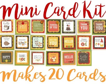 Handmade Cards, Blank Card kit, Pre-made Blank Cards, Mini Card Kit, premade thank you card, premade birthday card, thinking of you cards