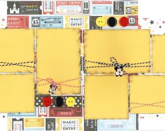 12x12 MAGIC KINGDOM scrapbook page kit, disney scrapbook pages, disney scrapbook page kit, 12x12 scrapbook page, scrapbook page kit