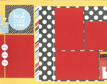 12x12 BEST DAY EVERY scrapbook page kit, disney scrapbook pages, disney scrapbook page kit, 12x12 scrapbook page, scrapbook page kit
