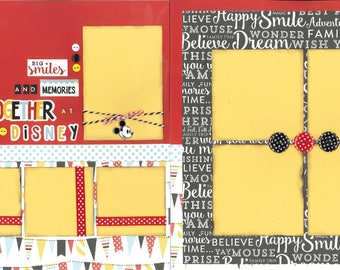 12x12 BIG SMILES at DISNEY scrapbook page kit, disney scrapbook pages, disney scrapbook page kit, 12x12 scrapbook page, scrapbook page kit