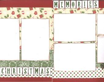 12x12 CHRISTMAS MEMORIES scrapbook page kit, premade scrapbook, 12x12 premade scrapbook page, premade scrapbook page, 12x12 scrapbook layout