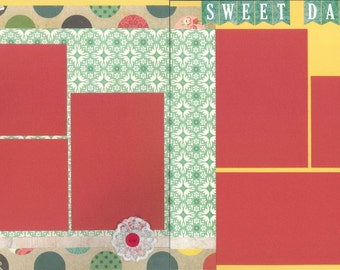 12x12 SWEET DAUGHTER scrapbook page kit, premade scrapbook, 12x12 premade scrapbook page, premade scrapbook pages, 12x12 scrapbook layout