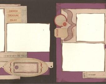 12x12 CHERISH scrapbook page kit, premade cherish scrapbook, 12x12 premade scrapbook page, premade scrapbook pages, 12x12 scrapbook layout