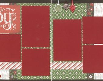 12x12 JOY scrapbook page kit, premade scrapbook, 12x12 premade scrapbook page, premade scrapbook pages, 12x12 scrapbook layout