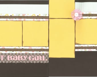 12x12 SWEET LITTLE GIRL scrapbook page kit, premade girl scrapbook, 12x12 scrapbook page kit, premade scrapbook page, 12x12 scrapbook layout