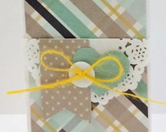 Blank Mini Card kit, Premade Blank Cards, Handmade Card Kit, Handmade Mini Card Kit, Pre-made Happy Day Cards, Mini Card Kits, Mini Cards