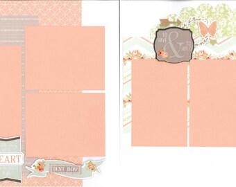 12x12 MR. & MRS. scrapbook page kit, premade wedding scrapbook, 12x12 scrapbook page kit, premade scrapbook page, 12x12 scrapbook layout
