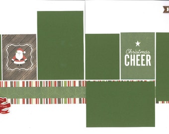 12x12 CHRISTMAS CHEER scrapbook page kit, premade scrapbook, 12x12 premade scrapbook page, premade scrapbook page, 12x12 scrapbook layout