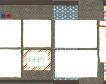 12x12 BEST BOY scrapbook page kit, premade boy scrapbook, 12x12 premade page kit, premade scrapbook pages, 12x12 scrapbook layout