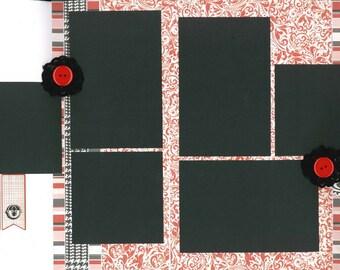 12x12 XOXO scrapbook page kit, premade scrapbook kit, 12x12 premade page kit, premade scrapbook pages, 12x12 scrapbook layout
