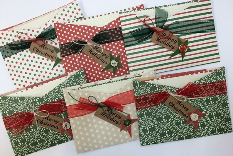 Christmas Card kit Premade Christmas Cards Handmade Card ...