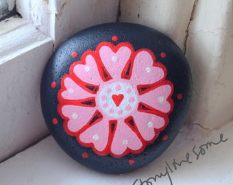 Ten Hearts Painted Stone
