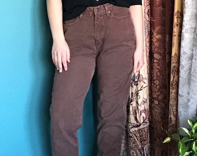 Calvin Klein Mom Jeans / CK High Waisted Mom Jeans / Brown Vintage Jeans Calvin Klein