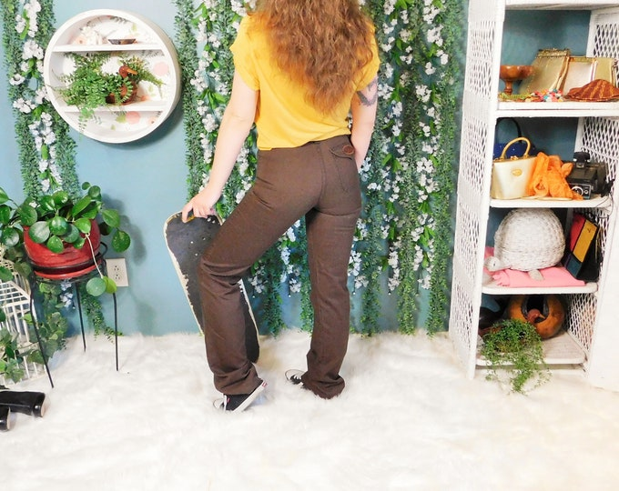70's Dittos Jeans Brown Straight Leg Pant