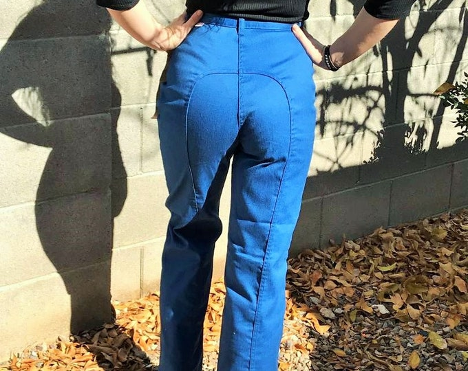 70s Dittos Pants Deadstock / Vintage High Waist, Saddle Back, Straight Leg Dittos Jeans