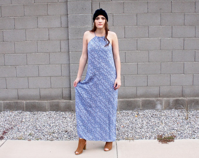 90's Mod Rayon Maxi Dress
