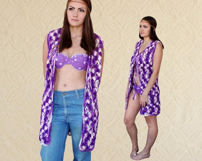 70's Crochet Duster Vest