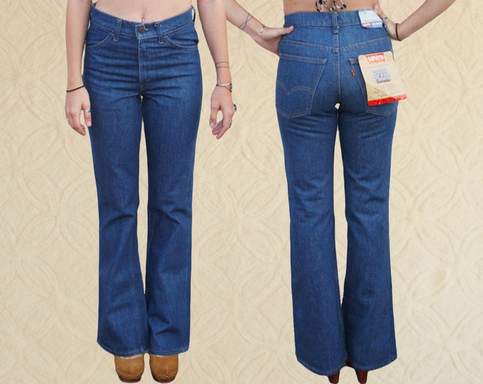 70's Levi's Orange Tab Bell Bottoms, Boho Bell Bottoms 28x32 DEADSTOCK