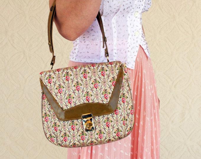 SALE>> Vintage Floral Tapestry Handbag | Floral Boho Purse