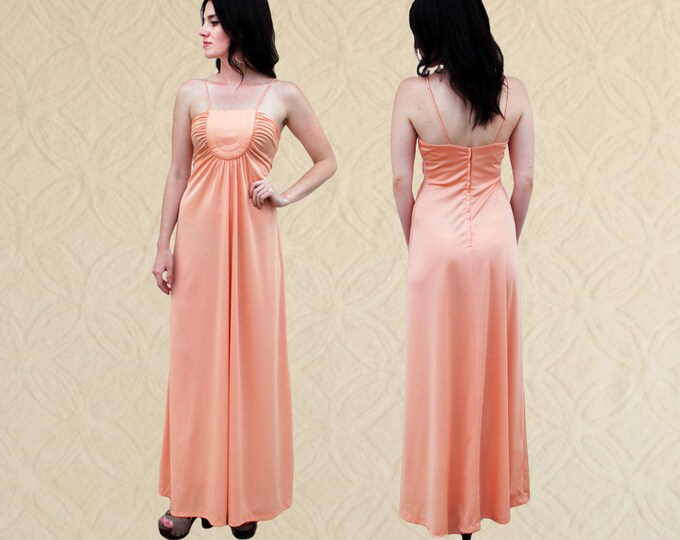 70's Spaghetti Strap Maxi Dress, Women's size XS/S