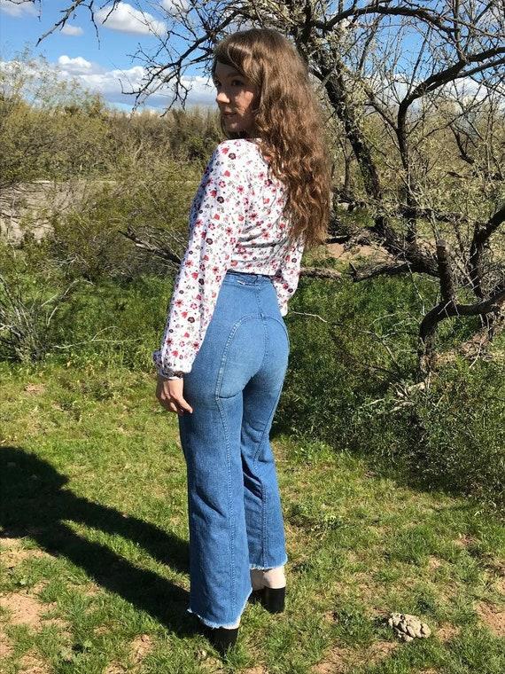 70s Dittos Saddleback Blue Jeans / Vintage Denim D