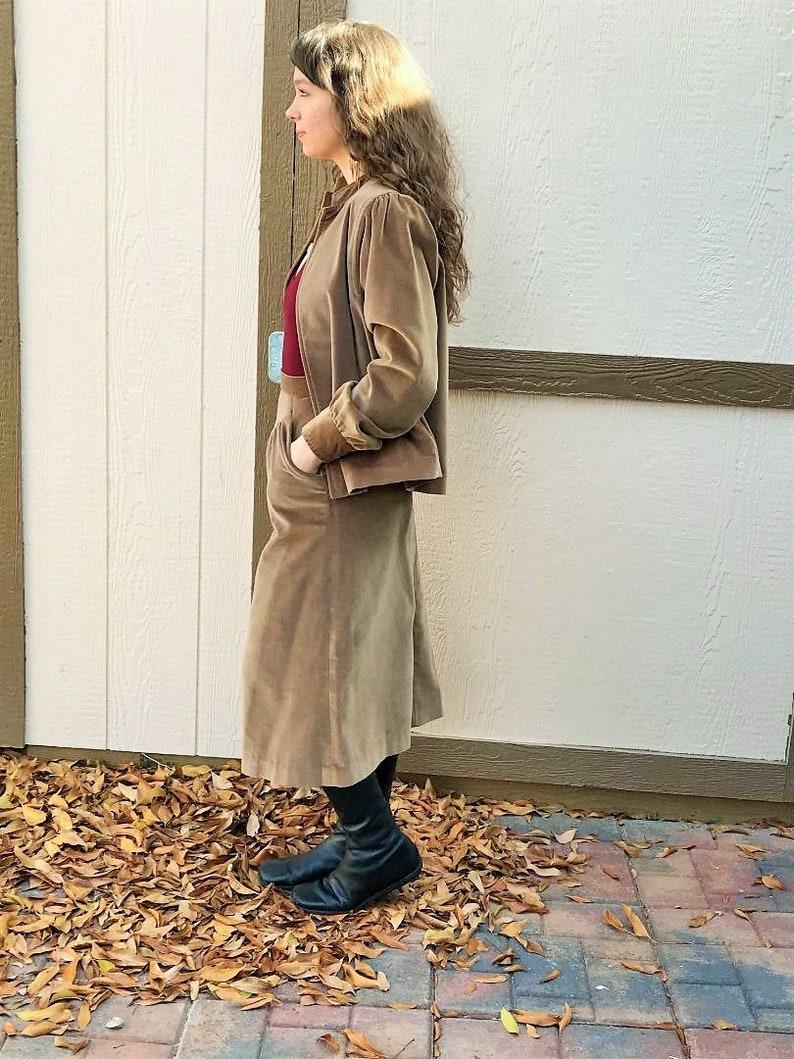 f1da5f5902b5 70s Velvet Two Piece Skirt and Jacket Set by Patty Woodard / | Etsy
