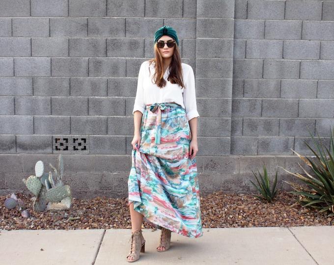 Vintage Desert Sky A-line Maxi Circle Skirt
