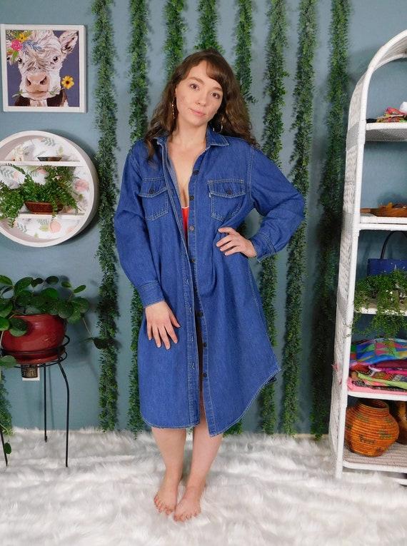 70s Levi's Denim Shirt-dress / Vintage Levi's Maxi | Etsy