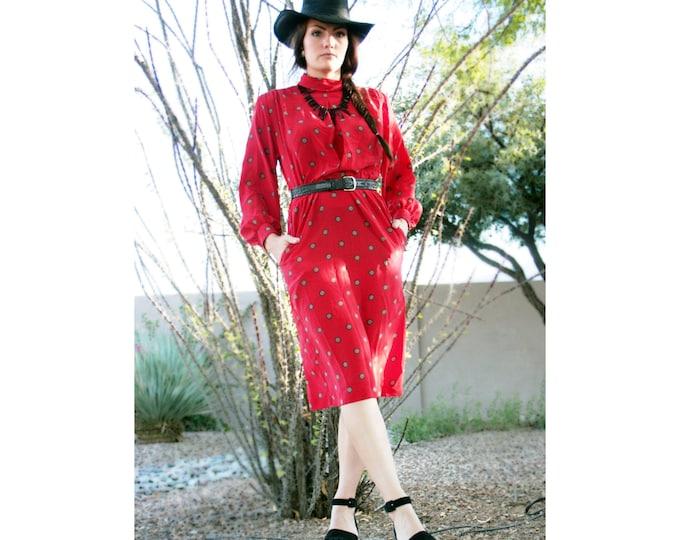 CLEARANCE>> 70's Puff Sleeve Disco Dress