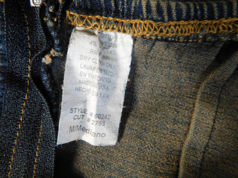 90s Denim Strapless Dress  Vintage Blue Jean Stretch Body Con Dress by Rue 21