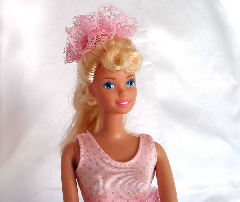 fdeaeb03f5ac Vintage Mattel 1980 Twist Turn Barbie in Pink Tulle Lace