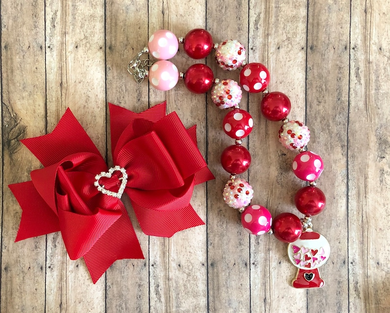 Necklace and Bow Set SPRING SALE You choose!