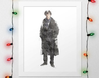 Sherlock wall art | Etsy