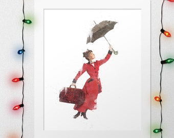 Mary poppins flying | Etsy