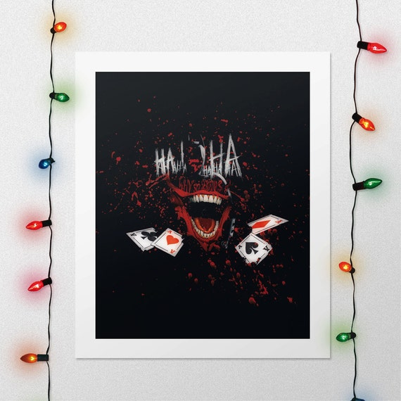JOKER THEY LAUGH AT ME PHOTO RE PRINT ON FRAMED CANVAS WALL ART  HOME DECORATION