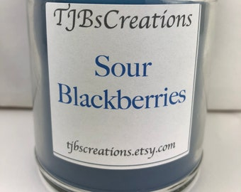 Sour Blackberries Scented Candle