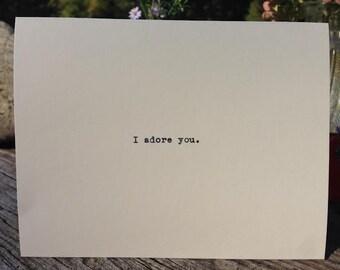 Io amo e adoro maturo greeting card carta di sesso