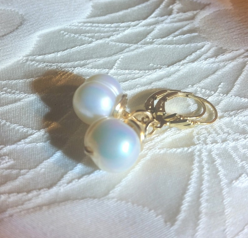 9fd3692d3 Baroque South Sea Pearls and 14K Gold Filled Earrings 11 to   Etsy