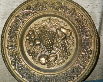 Brass Fruit Plate Etsy