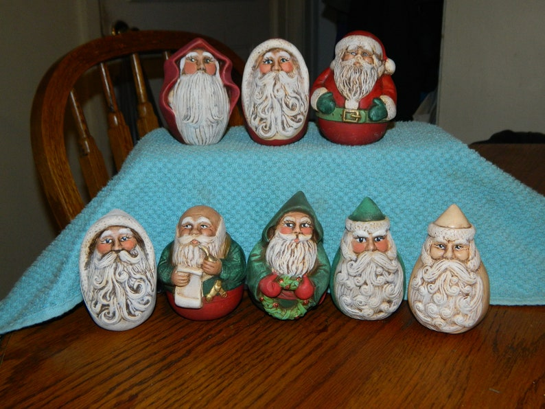 8 Collectible Santa Claus Christmas Decorations 8 Vintage Old World Santa Clauses