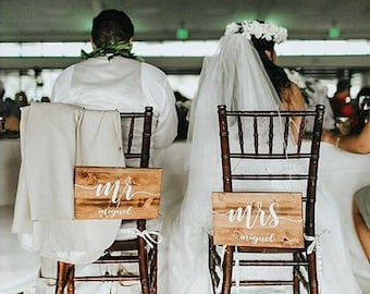 Mr and Mrs Wood Wedding Signs • Bride and Groom Signs • Custom wedding sign • Wood Signs • Mr and Mrs Signs
