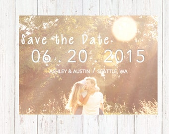 Simple Save the Date - Save the Date - Wedding Save the Date - Timeless Save the Date