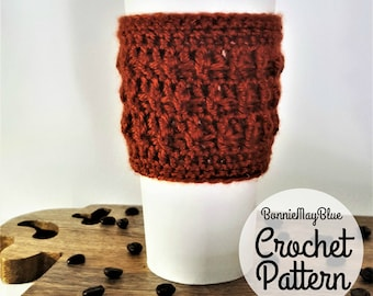 Cup Cozy Pattern, Instant Download Crochet PATTERN, Coffee Sleeve Travel Mug Cozy, To go Cup Cozy, Mug Warmer PDF Pattern, Coffee Mug Cozy