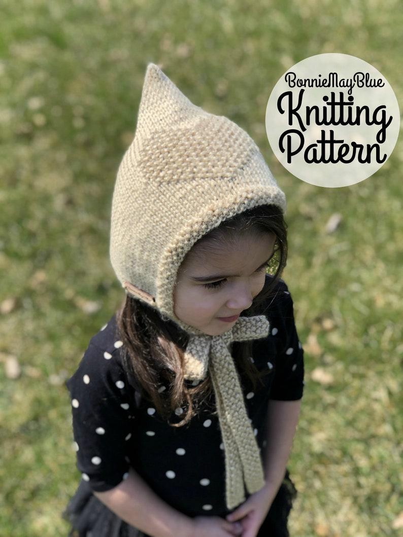 Sweetheart Pixie Bonnet Knit Pattern Baby Bonnet Toddler  226ed4922b9