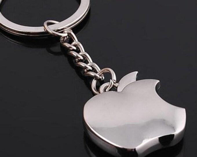 New European and American Fashion Apple Logo Metal Key Chain Apple Keychain Key Ring